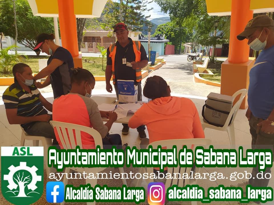 Empleados del Ayuntamiento Municipal Vacunados Contra el Covid-19
