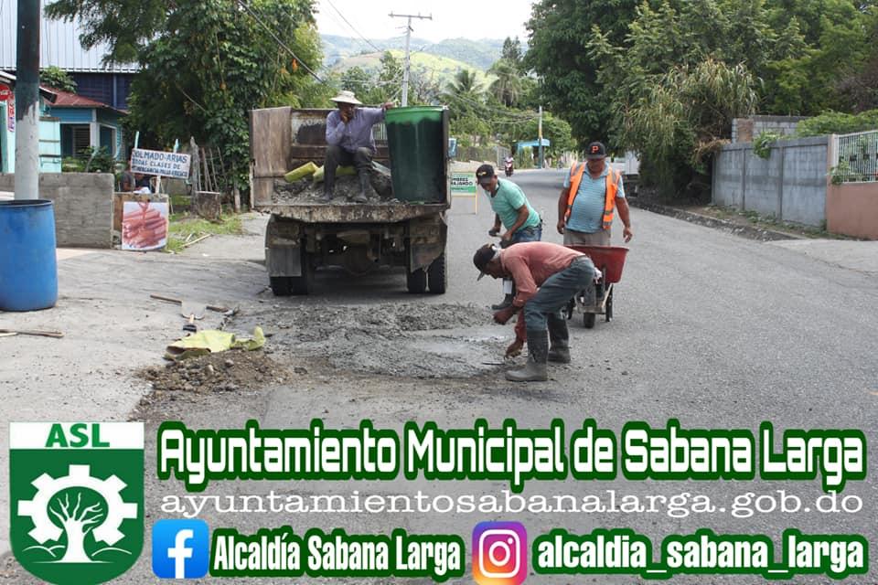 Reparación y Bacheo de Hoyos en el Municipio de Sabana Larga